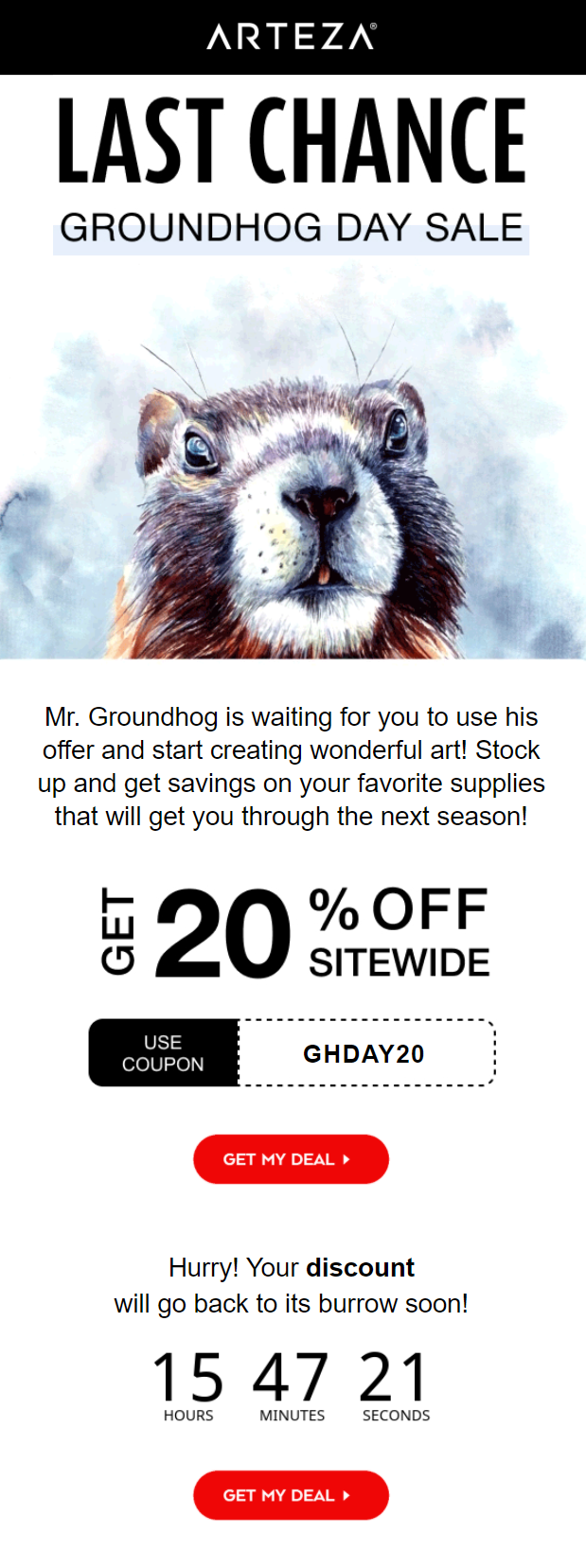 Groundhog Day email
