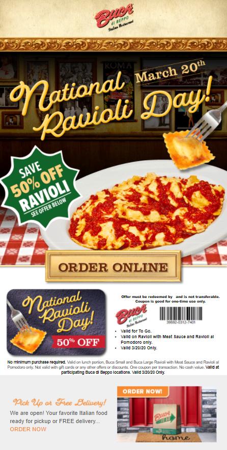 Ravioli Day email