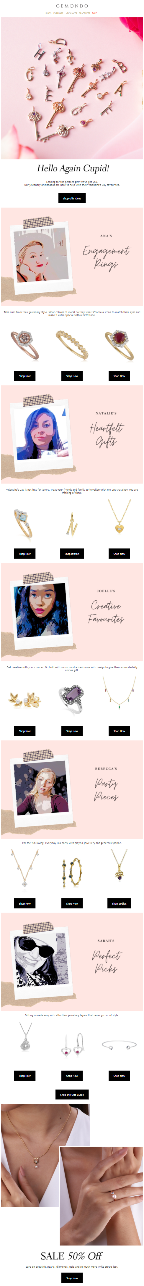 Valentine's email campaign by Gemondo