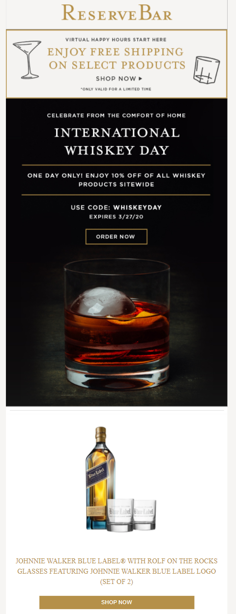 Whisky Day email