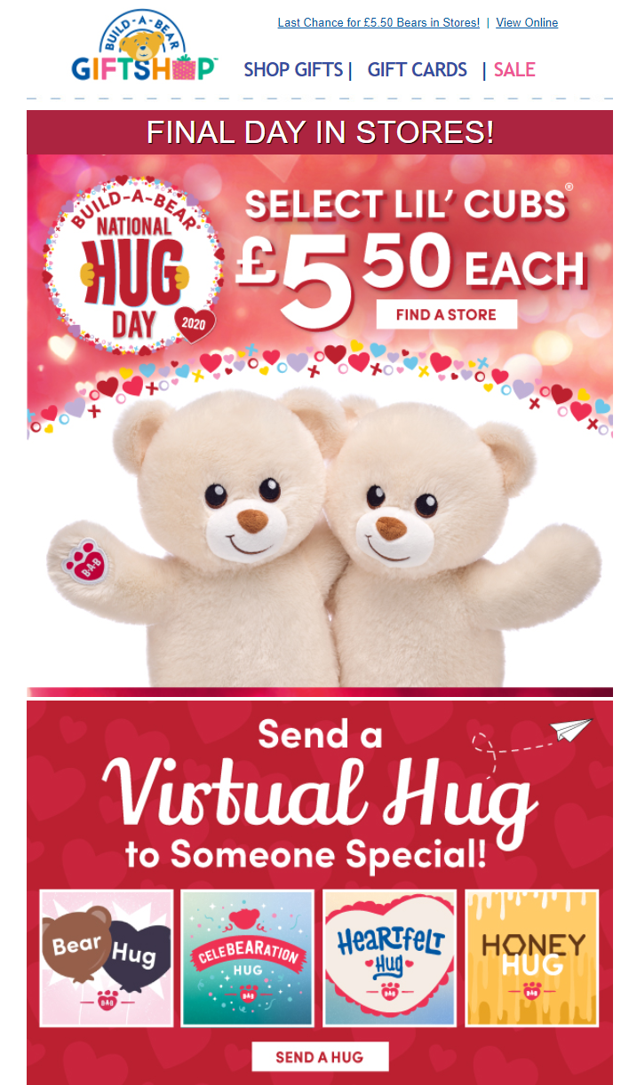 Hug Day email