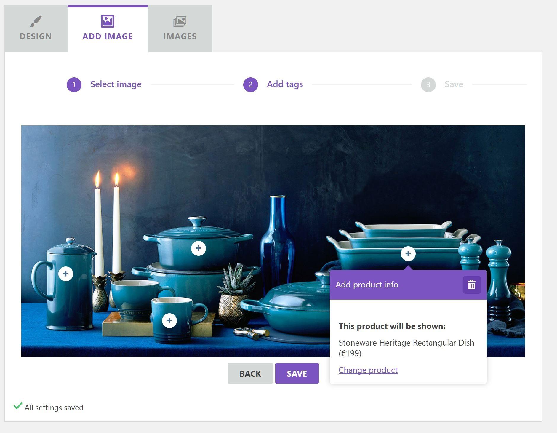 Плагин Wordpress для shoppable изображений