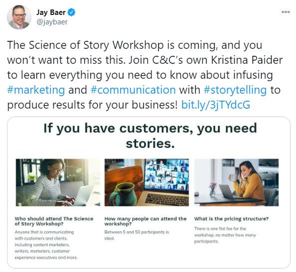 Jay Baer's tweet