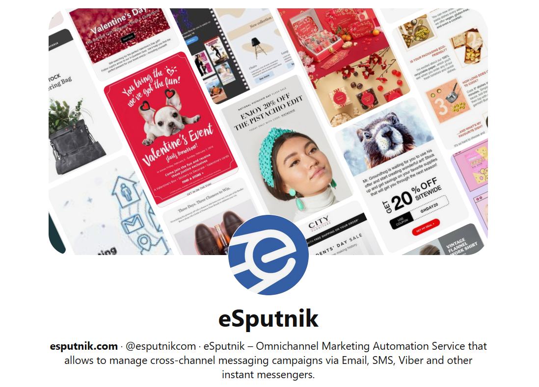 eSputnik аккаунт на Pinterest