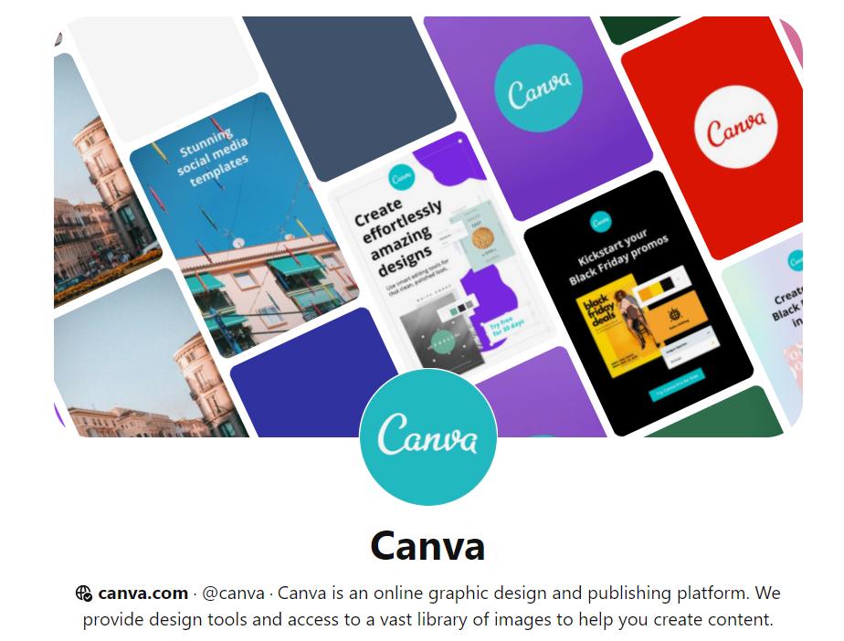 Аккаунт Canva Pinterest