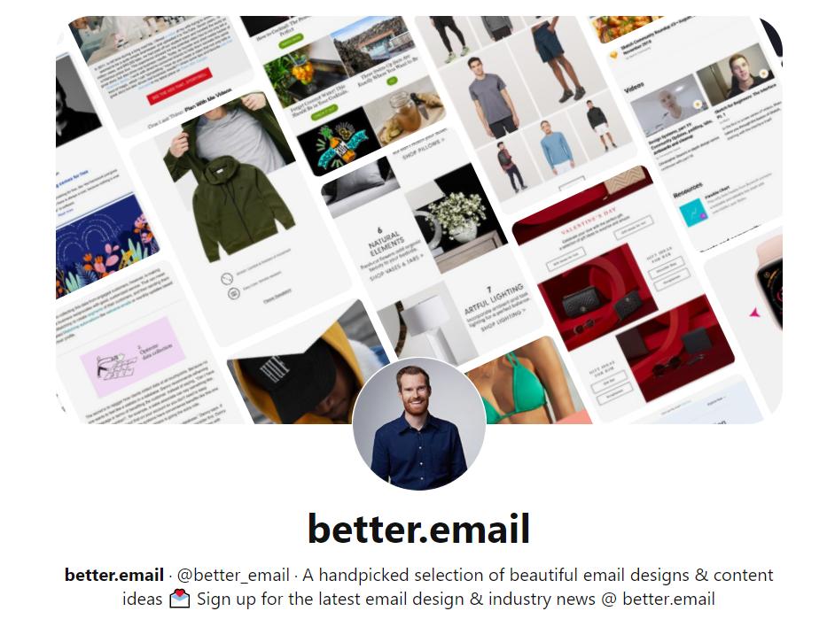 Curated email аккаунт Pinterest красивые подборки дизайна email-рассылок