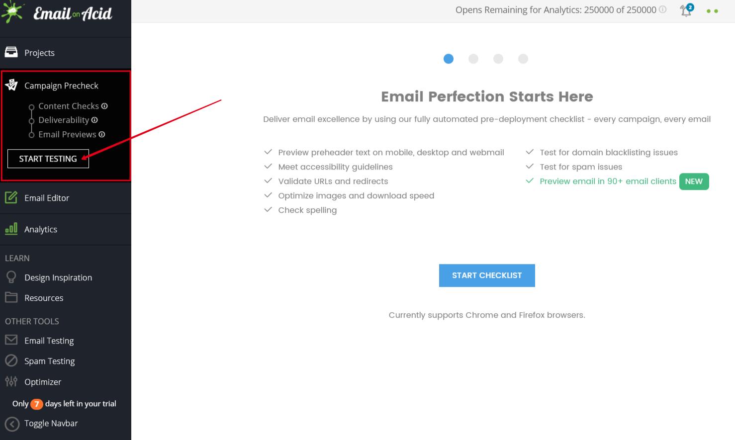 Поиск и устранение ошибок в Email on Acid
