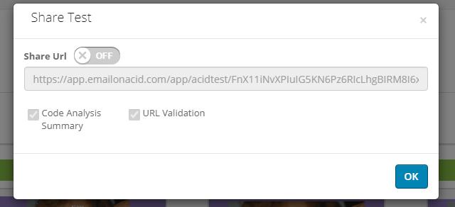 Результаты тестирования в Email on Acid