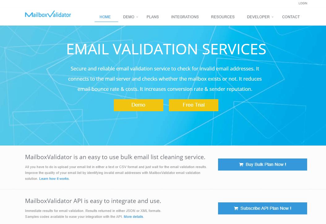 Интерфейс MailboxValidator