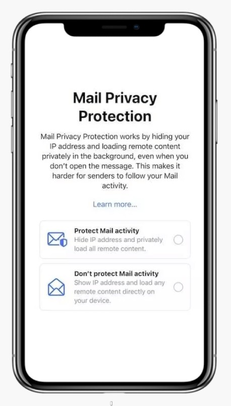 Mail Privacy Protection prompt example