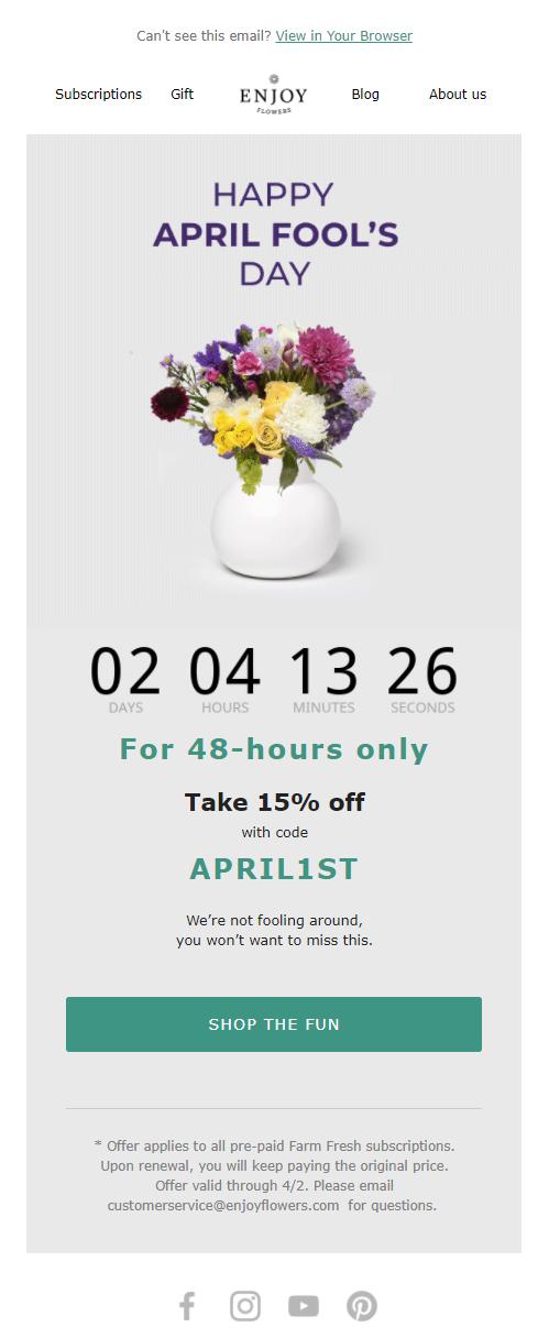 April Fool's Day campaign