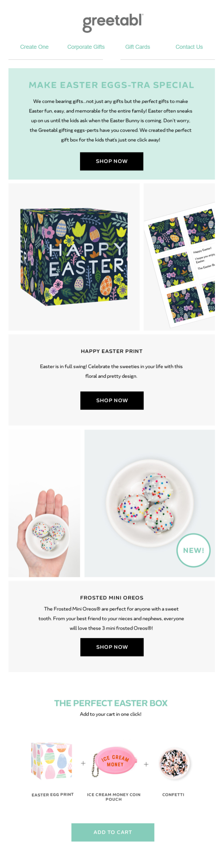 Easter email campaign by Greetabl