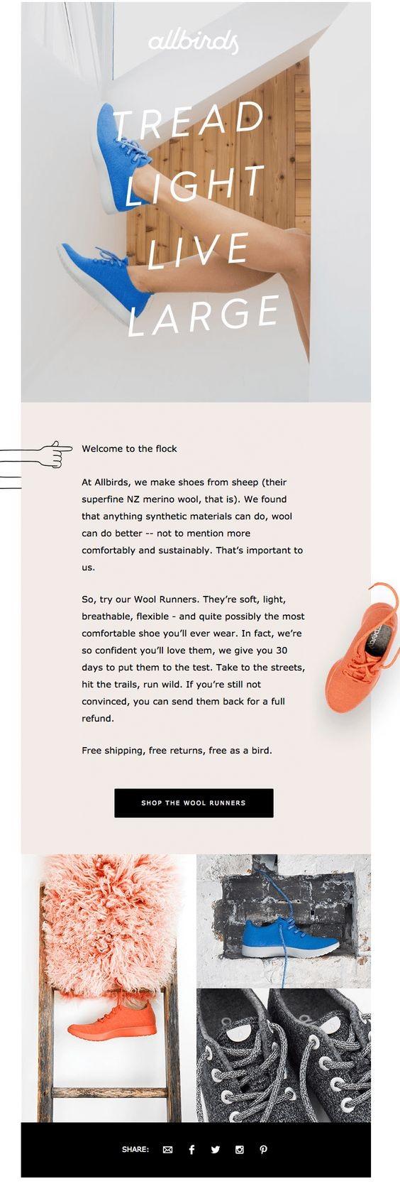 Бренд кроссовок вышел за рамки в приветственном письме