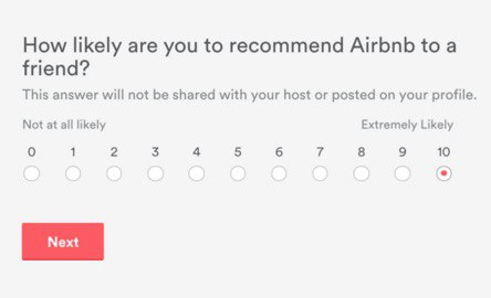 NPS from Airbnb