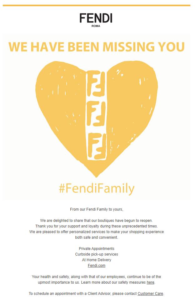 Рассылка от Fendi