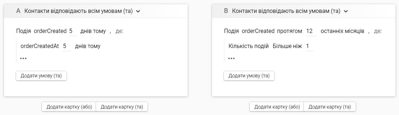 Користувачі, які створили замовлення 5 днів тому й не завершили