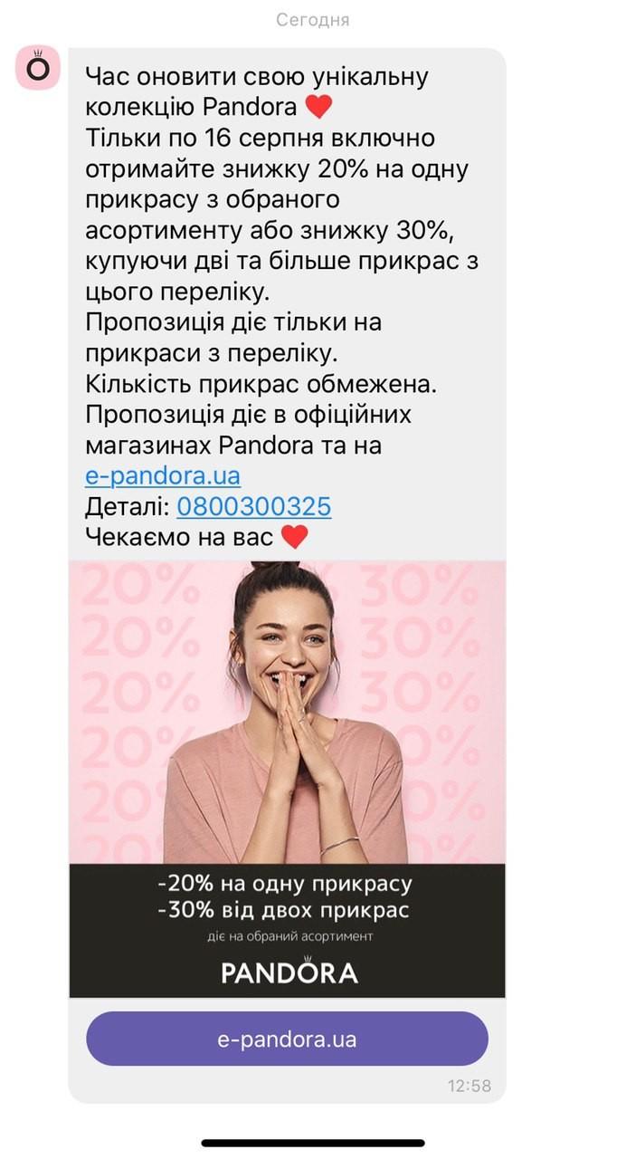 Приклад Viber-повідомлення