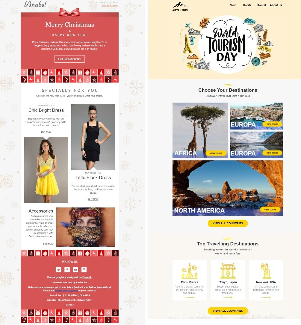 HTML email templates with background images