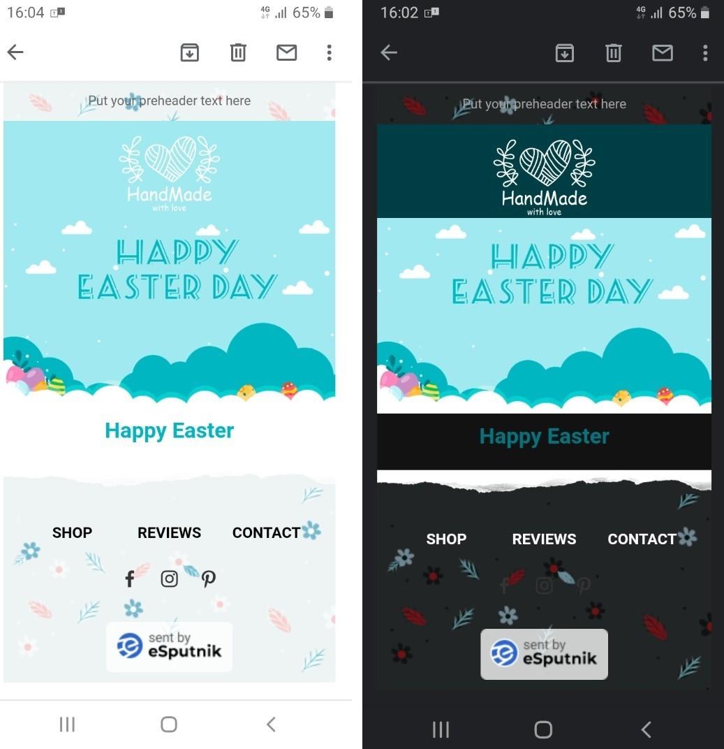 Background image in Light Mode vs. Dark Mode on mobile