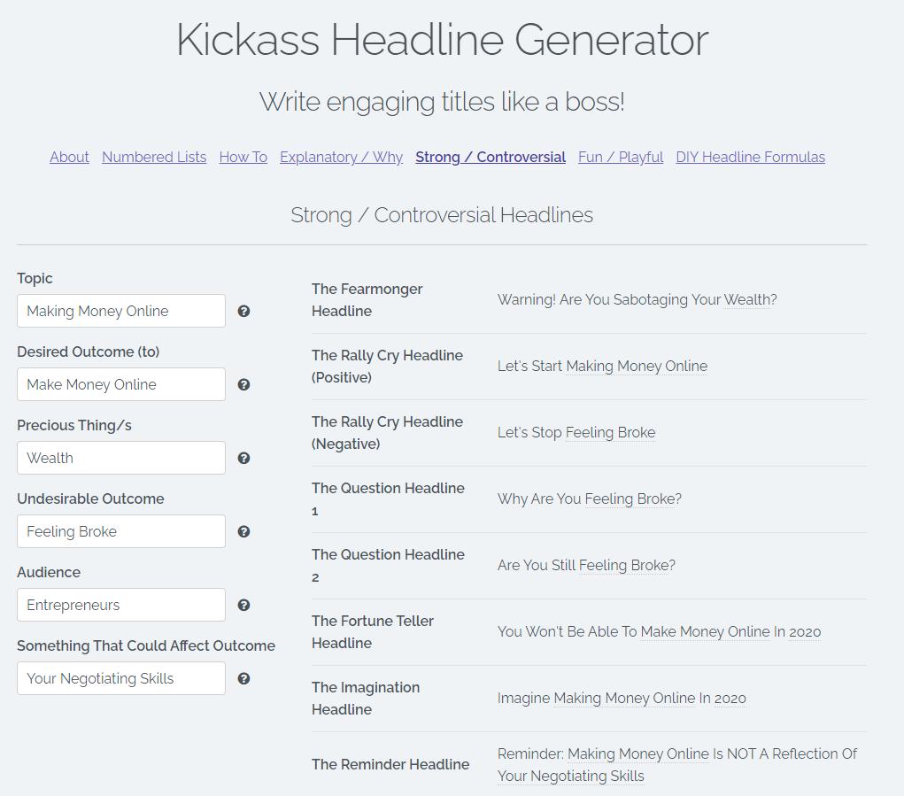 Kickass line generator
