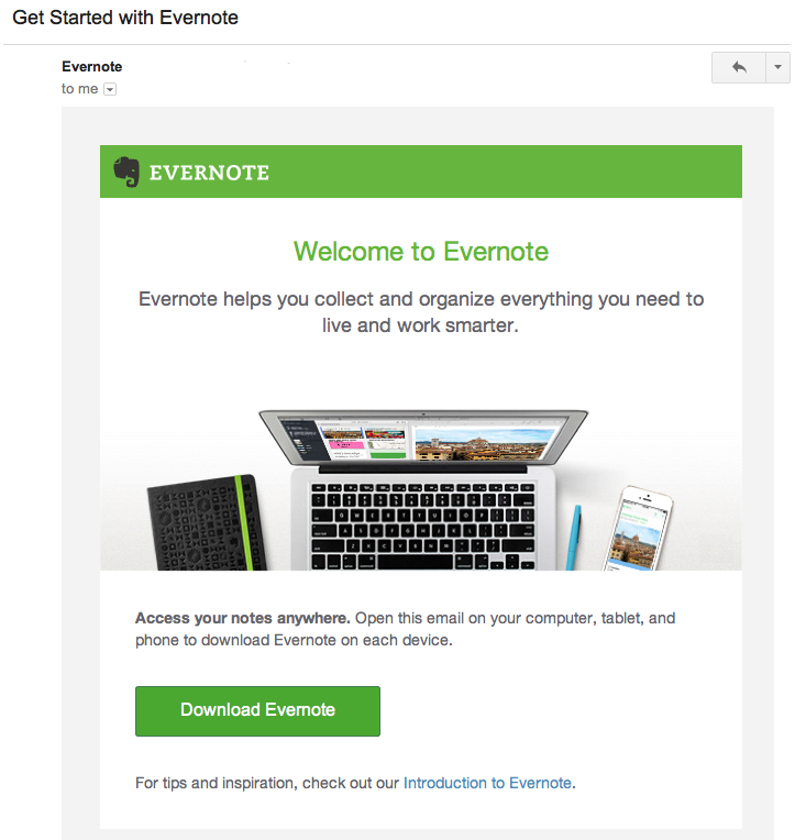 Welcome to Evernote