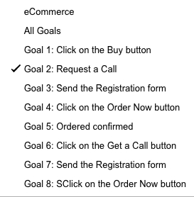 Goal setting in Google Analytics