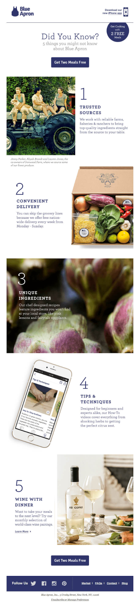 Creative content ideas: campaign by Blue Apron