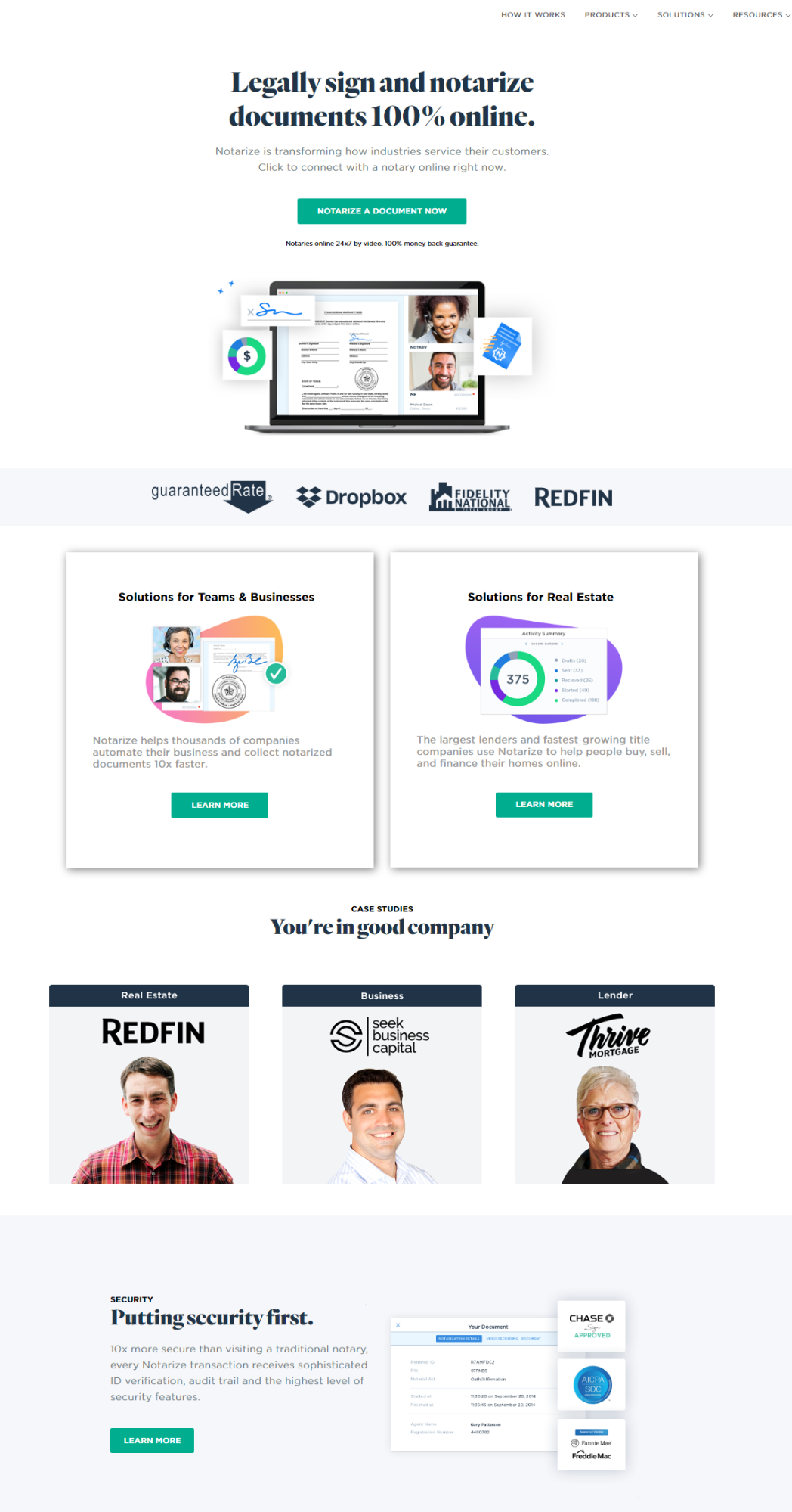 Landing page examples 2020