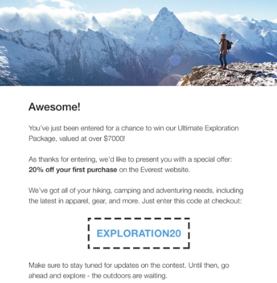 November email ideas: Hiking Day campaign