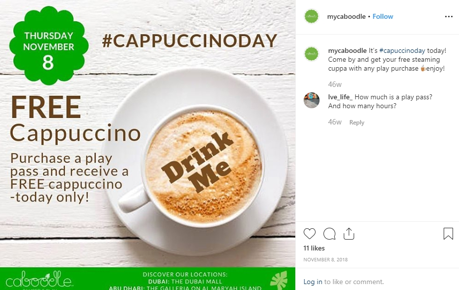 Great content ideas: Cappuccino Day campaign