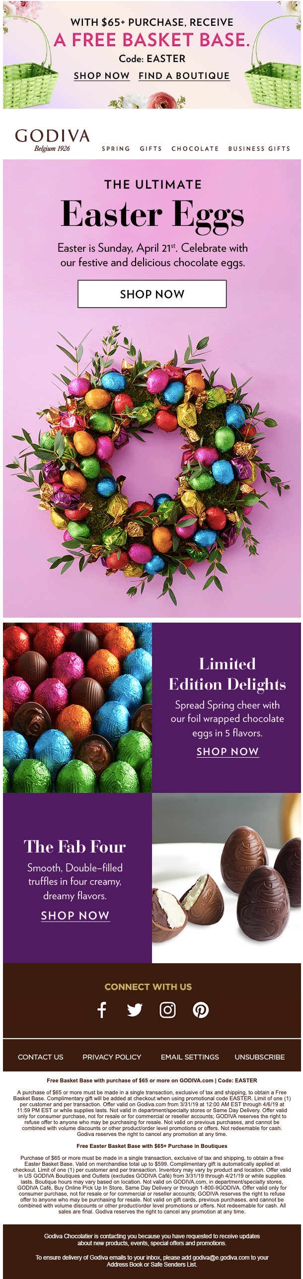 Egg-cellent... - Godiva Chocolatier