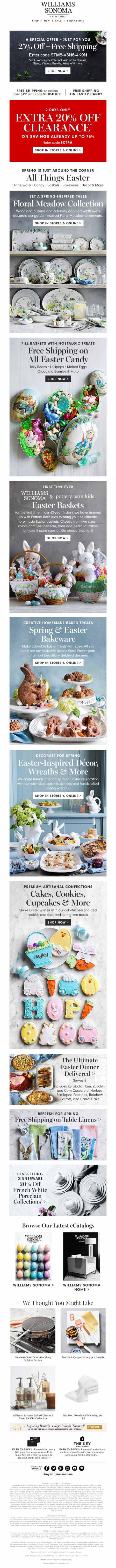 NEW Spring-Inspired & Easter Favorites + Extra 20% Off SALE — Williams-Sonoma Inc.