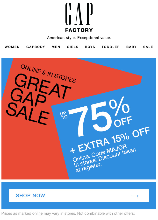 Example of Promotional Email