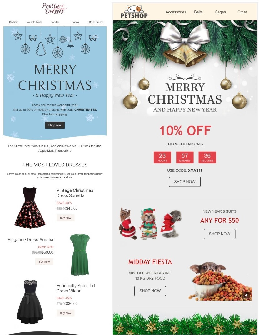 Christmas email emplates