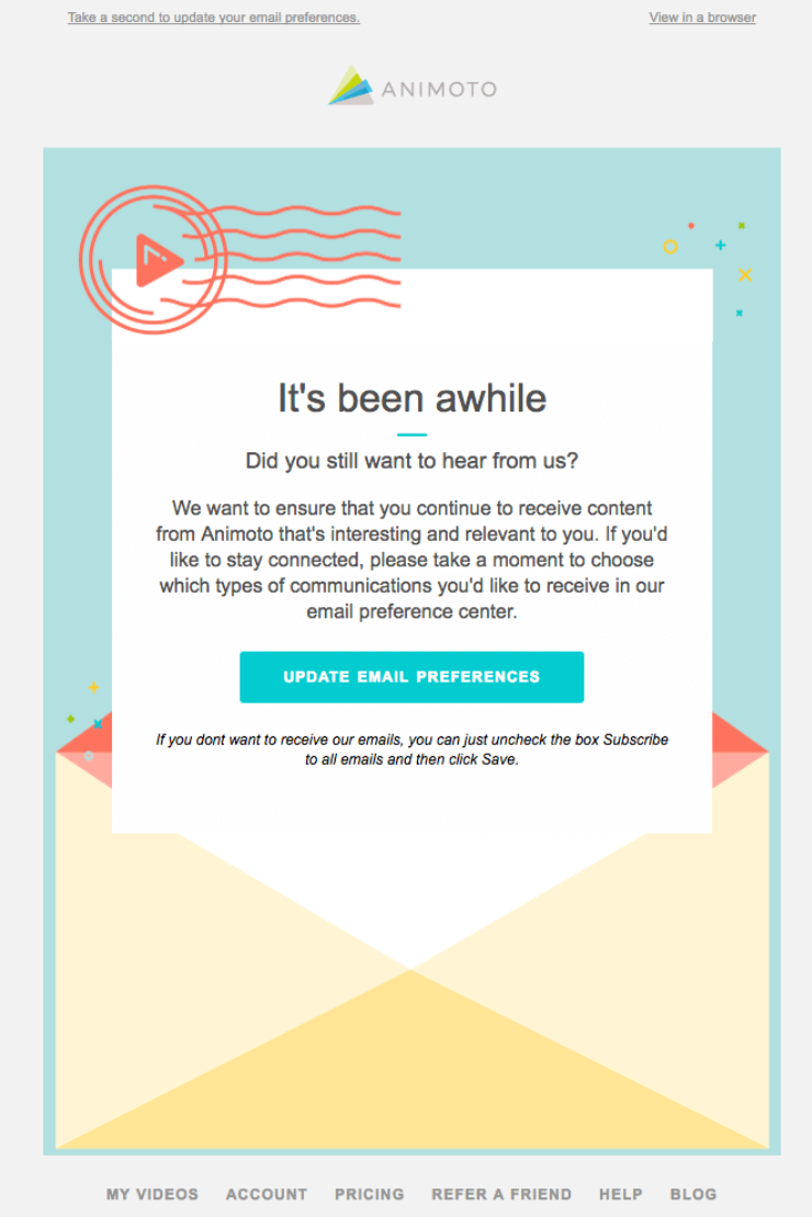 Reactivation email