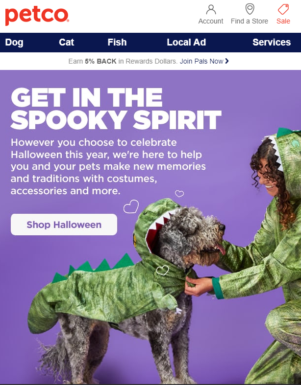 Halloween promo for pet owners