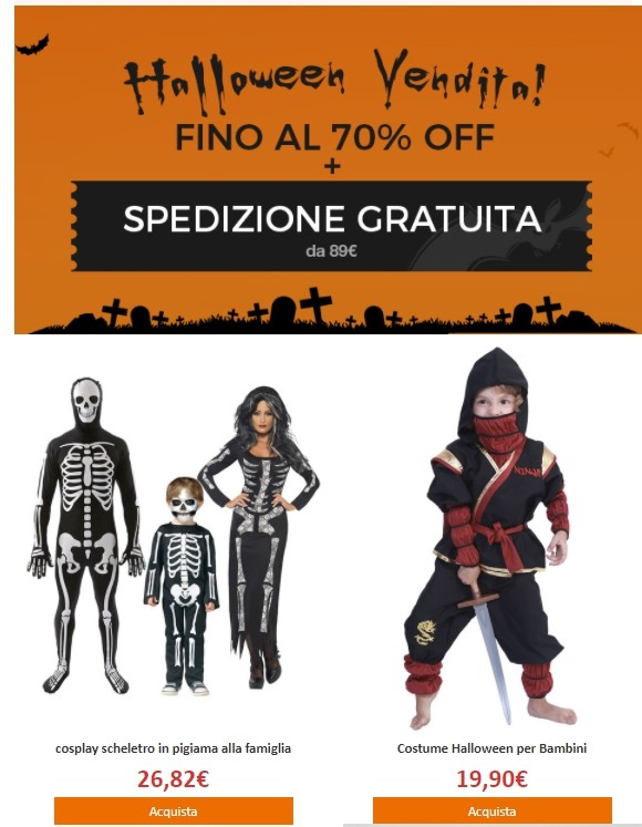 Halloween promo email