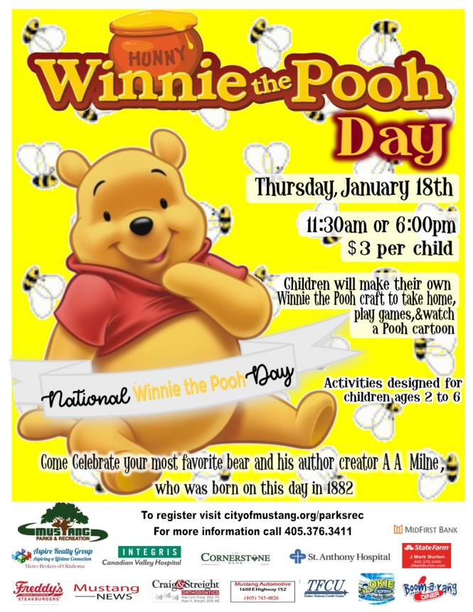Winnie the Pooh Day promo