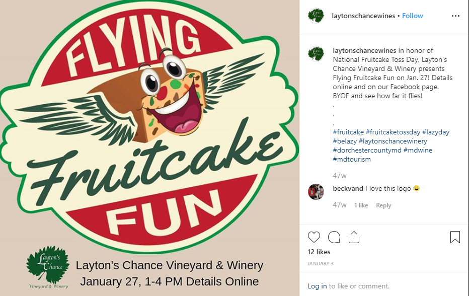 Instagram post by Layton's Chance Vineyard & Winery