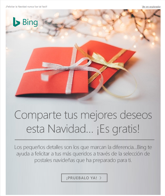 Christmas congratulations by Bing