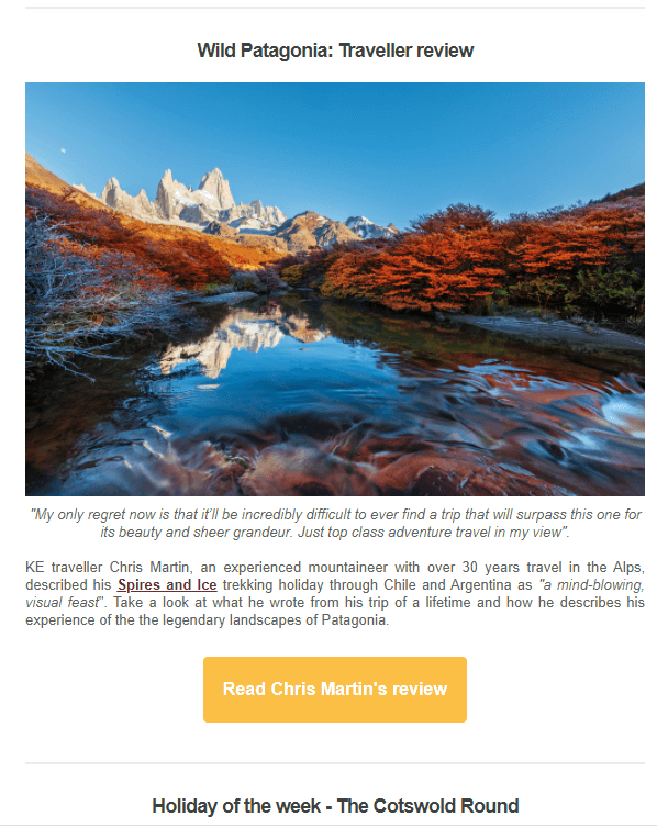 User-generated content in traveling email