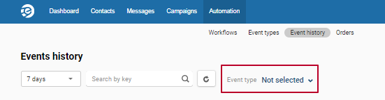 Check the event integration