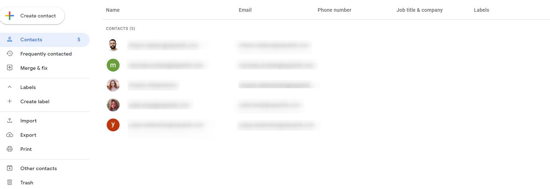 Bulk email through Gmail. General list