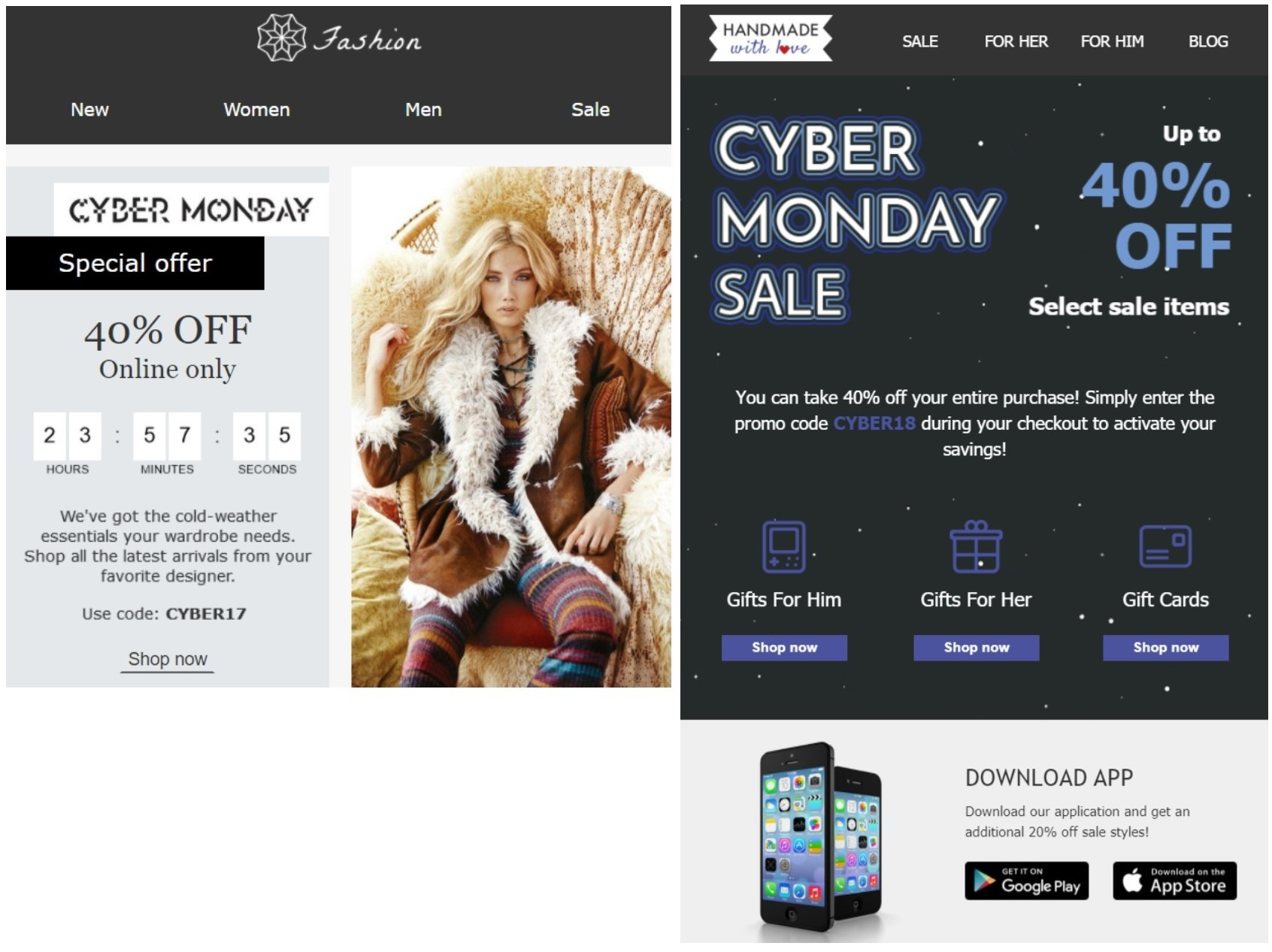 Cyber Monday email templates