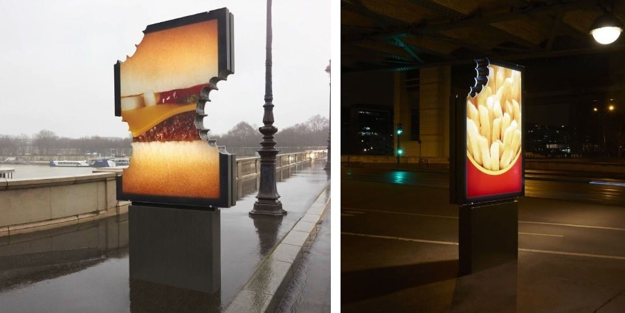Ad billboards for McDonald's by TBWA