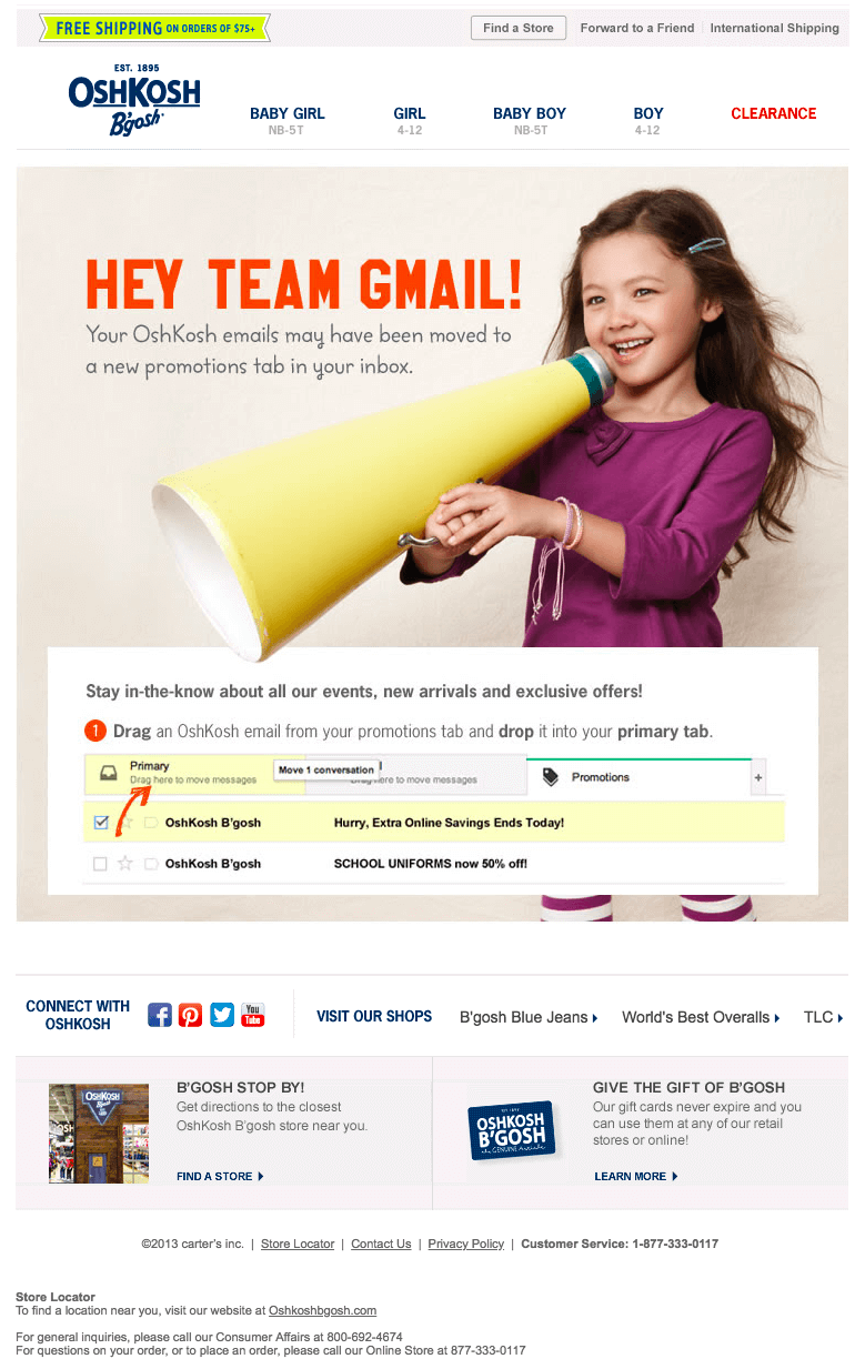 Gmail promotions tab email marketing