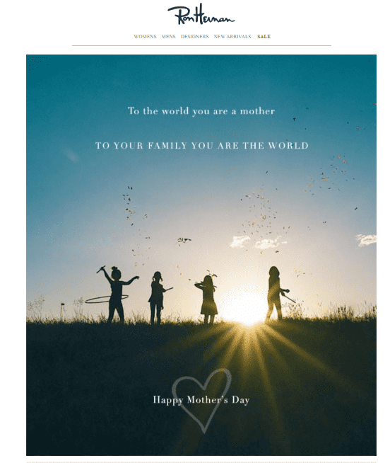 Email marketing for Mother's Day