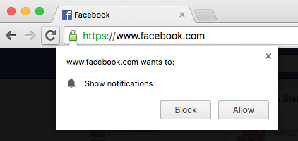 Web push notification opt-in message