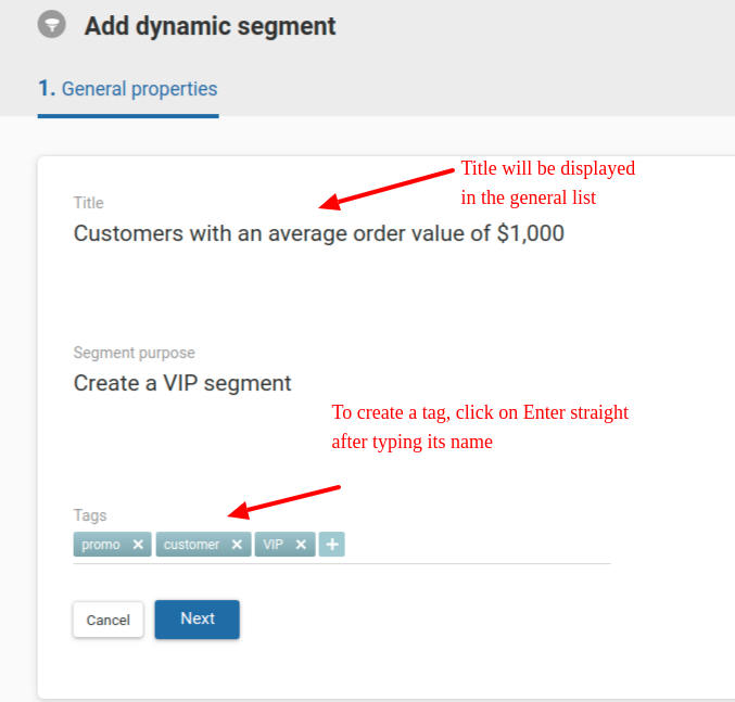 Segmentation by events