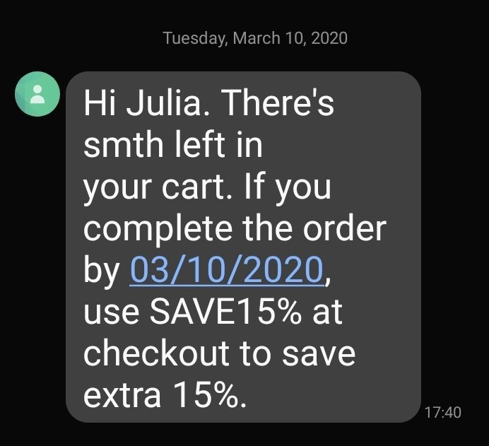 Bulk SMS examples
